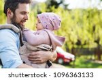 a father with his toddler... | Shutterstock . vector #1096363133