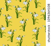 seamless pattern with white... | Shutterstock .eps vector #1096364108