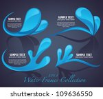 vector collection of water...