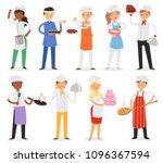 chef vector cook character... | Shutterstock .eps vector #1096367594