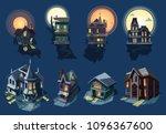 spooky house vector haunted... | Shutterstock .eps vector #1096367600