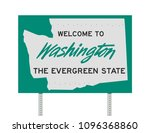 welcome to washington road sign   Shutterstock .eps vector #1096368860
