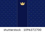 navy blue seamless pattern in... | Shutterstock .eps vector #1096372700