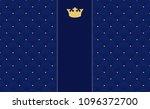 navy blue seamless pattern in... | Shutterstock .eps vector #1096372700