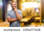 african american man with beard ... | Shutterstock . vector #1096377638