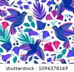 vector seamless pattern with... | Shutterstock .eps vector #1096378169