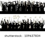 happy people silhouette | Shutterstock .eps vector #109637834