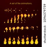 fire animation sprites. a set...
