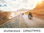 motorcycle travelers ride in... | Shutterstock . vector #1096379993