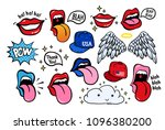 new youth stickers  patches in... | Shutterstock .eps vector #1096380200