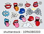 new youth stickers  patches in... | Shutterstock .eps vector #1096380203