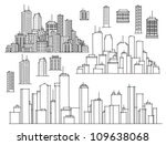 city and elements for design. | Shutterstock .eps vector #109638068