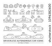 driverless autonomous car... | Shutterstock .eps vector #1096382600