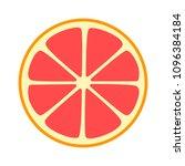 red grapefruit split half slice ... | Shutterstock .eps vector #1096384184