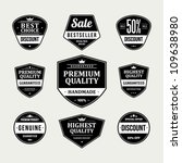 vintage labels or badges retro... | Shutterstock .eps vector #109638980