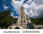 vaduz cathedral of saint florin ... | Shutterstock . vector #1096403450