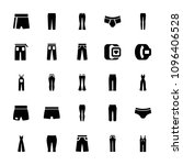 pants icon. collection of 25... | Shutterstock .eps vector #1096406528