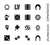 lucky icon. collection of 16...   Shutterstock .eps vector #1096406543