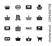purchase icon. collection of 16 ... | Shutterstock .eps vector #1096406708