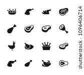roast icon. collection of 16... | Shutterstock .eps vector #1096406714
