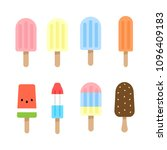 popsicles  ice cream flavors... | Shutterstock .eps vector #1096409183