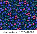 vector seamless pattern with... | Shutterstock .eps vector #1096410803