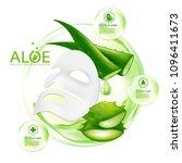 aloe vera collagen mask serum...   Shutterstock .eps vector #1096411673