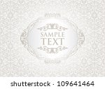 vintage white frame on damask... | Shutterstock .eps vector #109641464