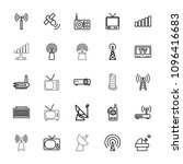 antenna icon. collection of 25... | Shutterstock .eps vector #1096416683