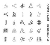 scientific icon. collection of... | Shutterstock .eps vector #1096416800