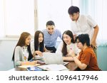 group of young university... | Shutterstock . vector #1096417946