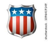 icon of shield  with american...   Shutterstock .eps vector #1096419149
