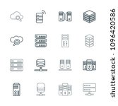 database icon. collection of 16 ... | Shutterstock .eps vector #1096420586