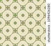 elegant vintage green geometric ... | Shutterstock .eps vector #1096426280