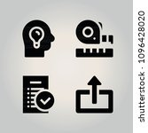 filled interface 4 vector icons ...