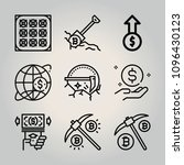 outline money 9 vector icons... | Shutterstock .eps vector #1096430123