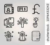 outline business 9 vector icons ...
