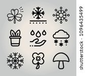outline nature 9 vector icons...