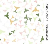 seamless vector pattern with... | Shutterstock .eps vector #1096437359