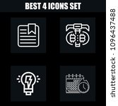 outline business 4 vector icons ...