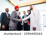 multicultural business people... | Shutterstock . vector #1096440263