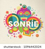 smile colorful typography... | Shutterstock .eps vector #1096442024