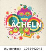 smile colorful typography... | Shutterstock .eps vector #1096442048
