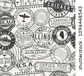 chicago illinois usa stamp... | Shutterstock .eps vector #1096448543