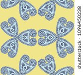 seamless hand drawn pattern... | Shutterstock .eps vector #1096450238