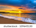 colorful sunset over the sea | Shutterstock . vector #109645130