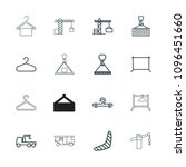 hook icon. collection of 16... | Shutterstock .eps vector #1096451660