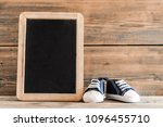 cute tiny baby sneakers... | Shutterstock . vector #1096455710