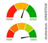 credit score indicator set.... | Shutterstock . vector #1096457018