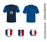 set of t shirts and flags of... | Shutterstock .eps vector #1096458950